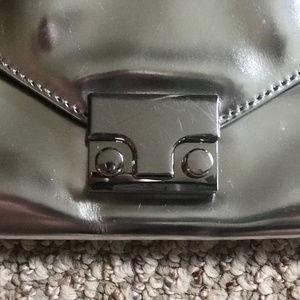 Loeffler Randall Bags - LOEFFLER RANDALL Petite Silver Lock Clutch
